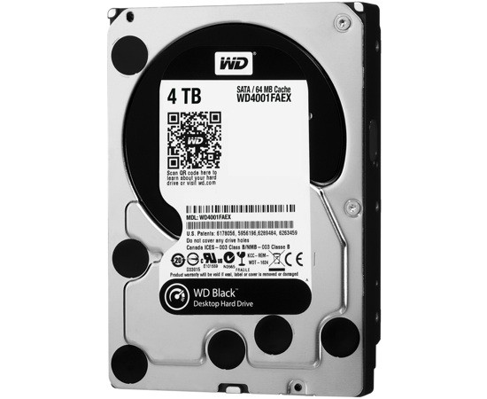 Western Digital Ships 4TB WD Black Hard Drive