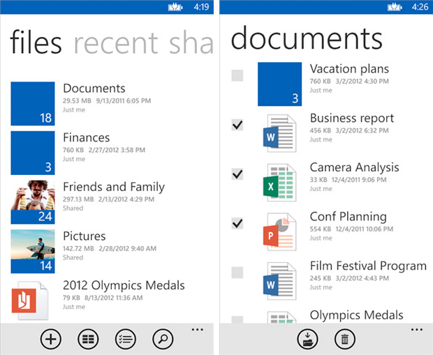 SkyDrive app gains Windows Phone 8 support in version 30