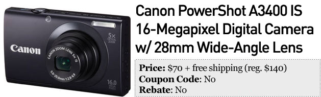 Slickdeals best in tech for Decemeber 26th Canon PowerShot and Onkyo home theater system