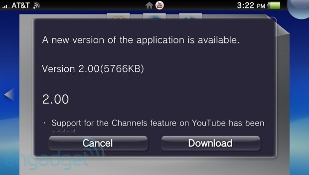 PlayStation Vita YouTube app now features closed captions and subscription support, still contains cat videos