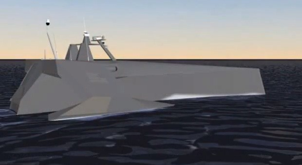 SAIC shows how its antisubmarine drone ship tracks its silent targets