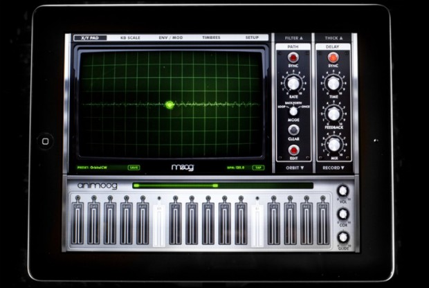 Animoog 2.0 for iPad helps you crank out hits with accelerometer-controlled modulation