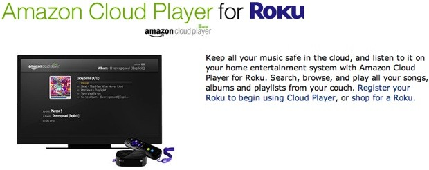 Amazon Cloud Player app arrives for Roku, Samsung Smart TVs