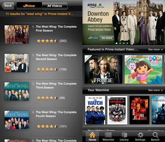 Amazon Instant Video streaming app now available for iPhone and iPod touch