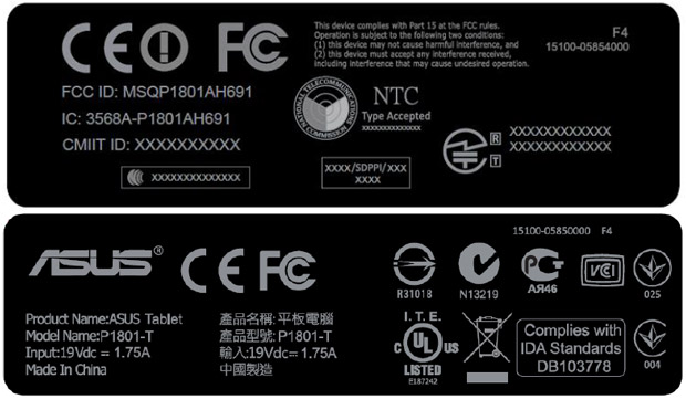 Mysterious ASUS P1801-T visits the FCC, might be the finished Transformer AiO