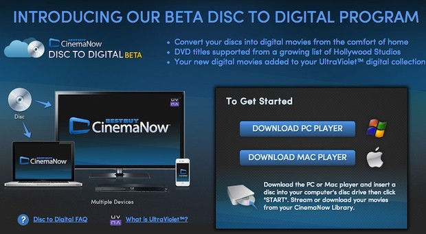 Best Buy's CinemaNow kicks home disctodigital program, gives DVDs cloud copies for a fee