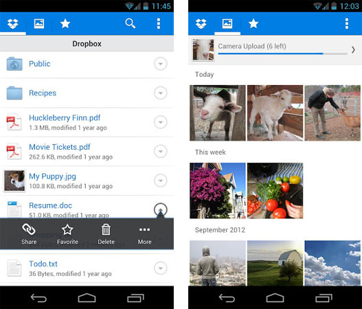 Dropbox updates Android app with bug fixes and file management