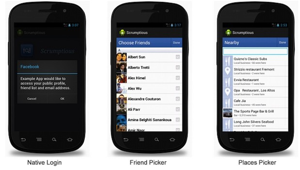 Facebook takes SDK 30 for Android out of beta, brings native login and better API support
