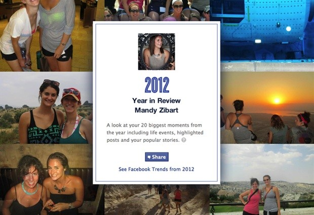 Facebook reveals your own 2012 Year in Review