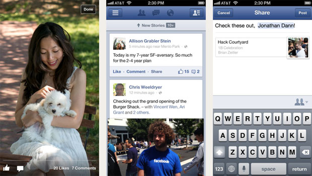 Facebook app update on iPhone gets reconstructed timelines, promises faster reminiscing