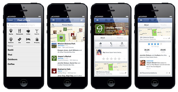 Facebook Nearby update helps you discover more about your friends' hangouts, view local business ratings