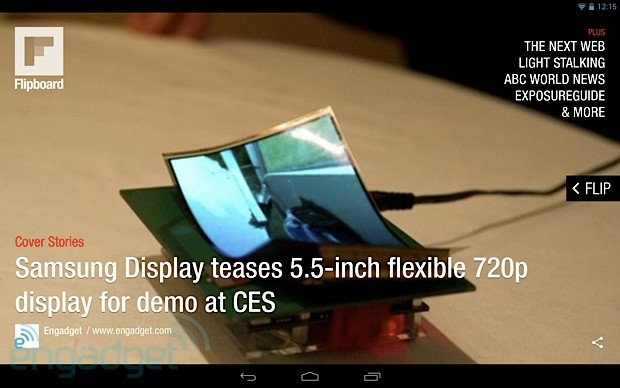 Flipboard on a Nexus 10