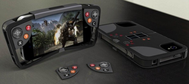 FlipSide case for iPhone packs stealthy game controls, plays on solar power video