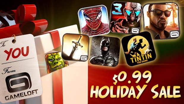 Gameloft cuts many game prices to 99 cents, wants screen time on your gift phone