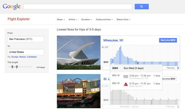 Google test flying new Flight Explorer tool