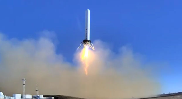 SpaceX Grasshopper reusable rocket improves leap to 131 feet video