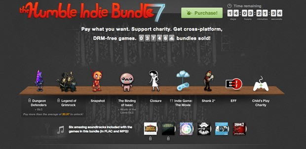 Humble Bundle goes indie once more in seventh iteration, includes Indie Game The Movie