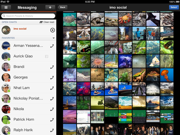 imoim for iPad updated, brings in voice calling and enhanced photo sharing