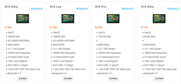 Kupa X15 Windows 8 tablet gets production ready, now on sale starting at $1,100