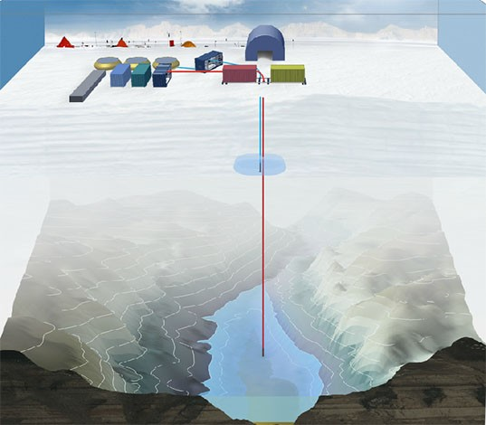Researchers end quest to drill through 3km of ice