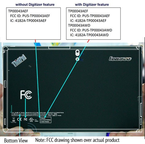 Lenovo ThinkPad tab revisits FCC packing 3G radio, no LTE