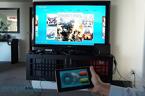 PlayCast cloud gaming service is coming to the US in 2013, we go handson with it a bit early