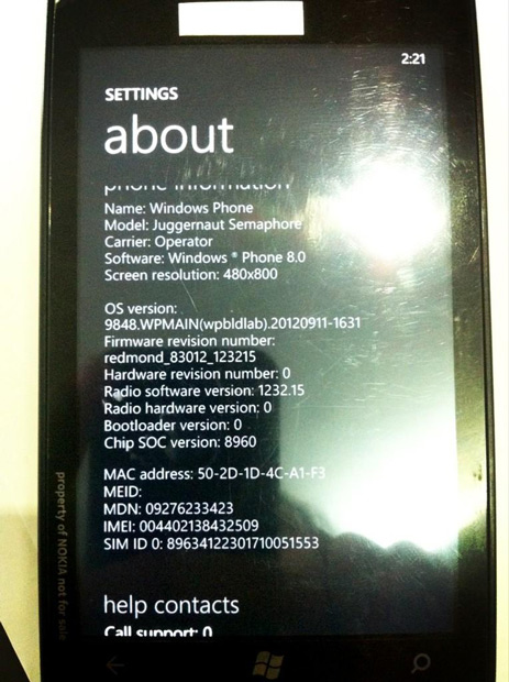 Take a Nokia Lumia, resize it to Juggernaut proportions, and it might look something like this