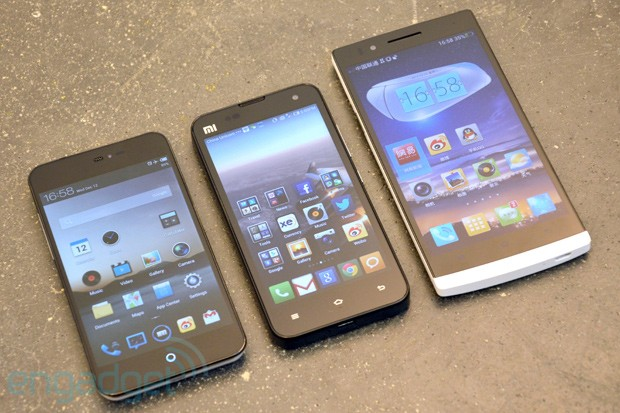 Oppo Find 5, Xiaomi Phone 2 and Meizu MX2