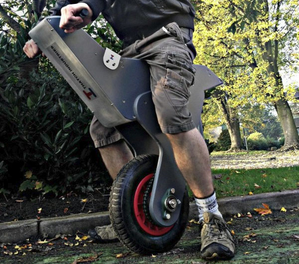 Homemade Raptor unicycle uses an Arduino to keep upright