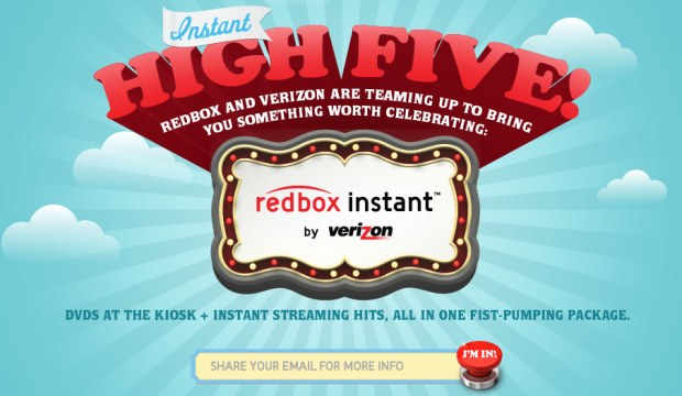 Redbox Instant debut delayed, Verizon CEO targets January for beta testing