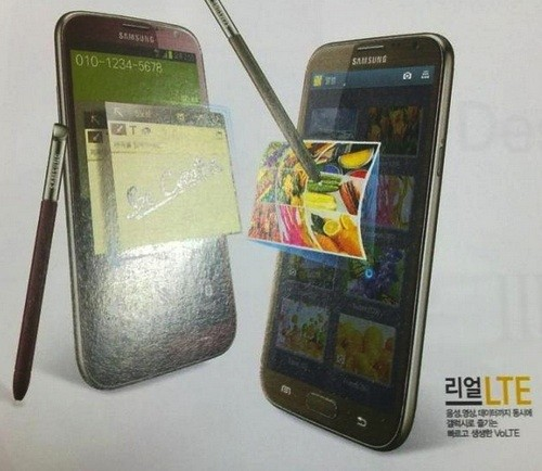 Samsung Galaxy Note II purportedly reaching South Korea in brown and red