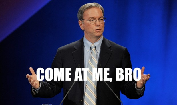 Eric Schmidt 'it's extremely curious' that Apple hasn't yet sued Google