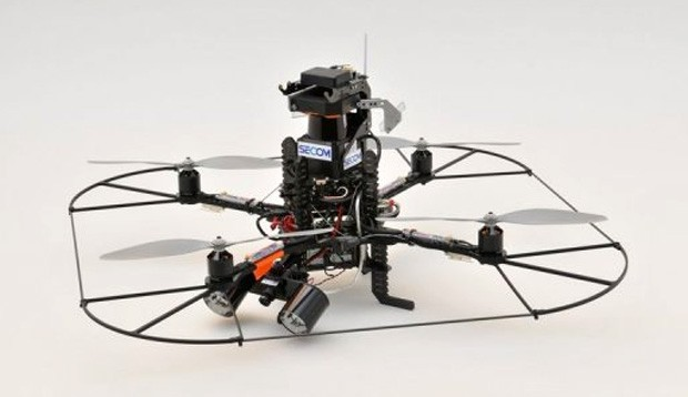 Secom offers a private security drone, serves as our eyes away from the office