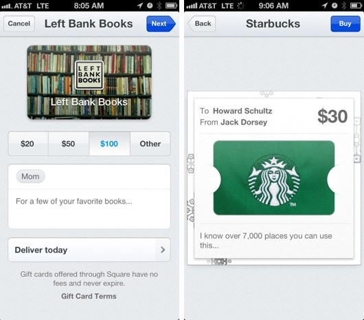 Square offers gift cards, ties them into Passbook for iOS 6 recipients