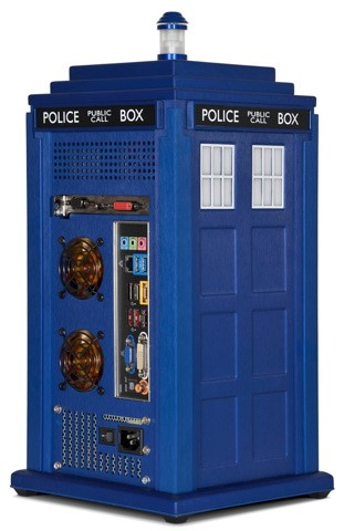 Scan's official TARDIS PC Case lets you roam time and space, hatstand optional
