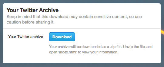Twitter archive downloads start rolling out to select users, lets you relive 2006 tomfoolery