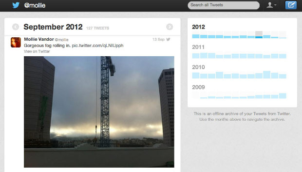 Twitter archive begins rolling out to English accounts beginning today, enables sorting by month and keyword