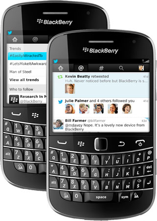 Twitter for Blackberry 40 adds Connect tab, more modern UI