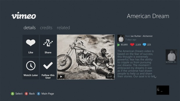 DNP Vimeo launches on XBOX Live, brings another video service to the dashboard