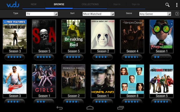 Vudu launches movie streaming  downloads to Android tablets, Xbox 360 app supports 1080p