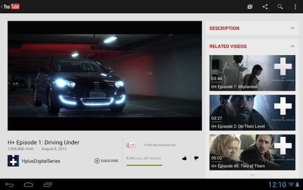 YouTube pushes new UI for tablets via its mobile website, Android app