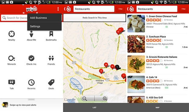 Yelp for Android gets updated with Yelp Talk, new action bar UI