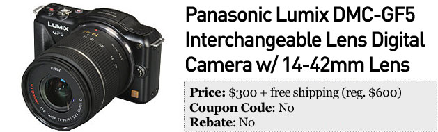 Slickdeals' best in tech for January 21st 55inch Panasonic Viera 3D HDTV and Lumix DMCGF5
