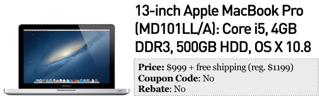 Slickdeals' best in tech for January 28th iPod touch, Bluray player, 13inch MacBook Pro