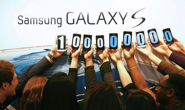 Samsung Galaxy S series over 100 million served