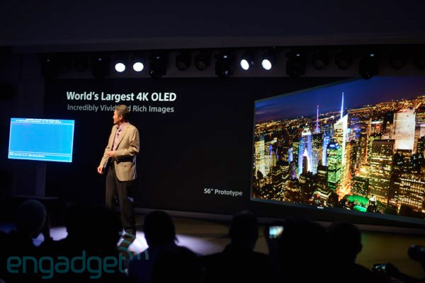 Sony announces the world's first 4K OLED TV at CES 3,840 x 2,160 resolution, no price or release in sight