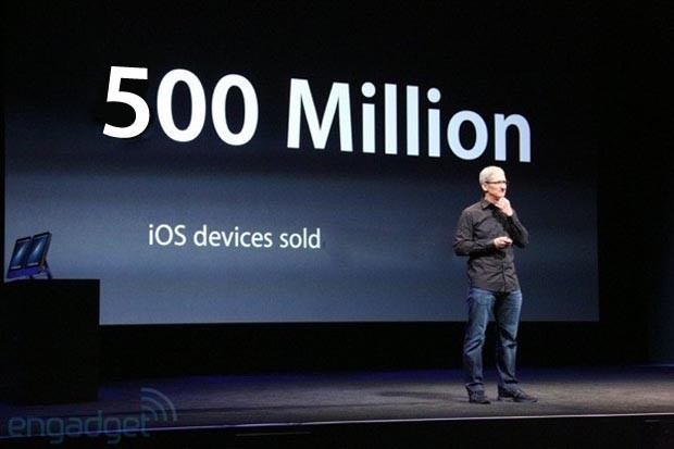 Apple over 500 million iOS devices sold