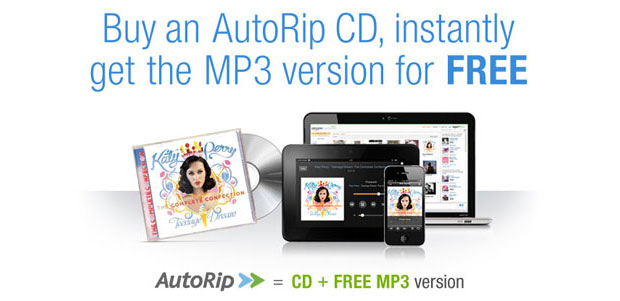 Amazon AutoRip deal gives you a free MP3 version of any CD purchase made since 1998
