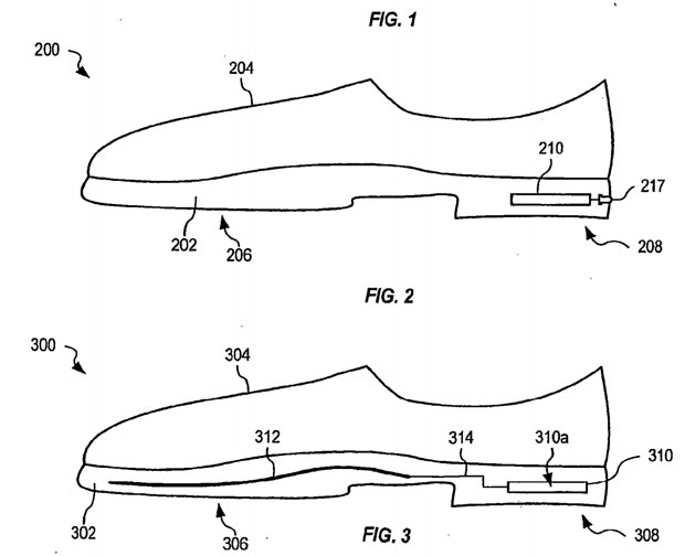 Apple applies for shoelife sensor patent, puts it in hypothetical brogues