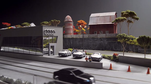 Audi goes arty, crafts A4 replica slot cars for 'quattro experience' installation